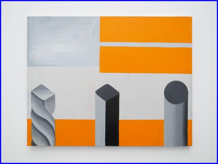 Alluminium Winds, oil and lacquer on canvas, 50 X 40 cm, 2019